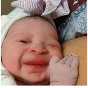 Regina Daniels's new baby