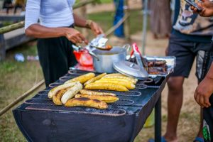 Photo: Roasted plantain (Bole) on display at an event.