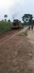 Photo of the abandoned road by contractors