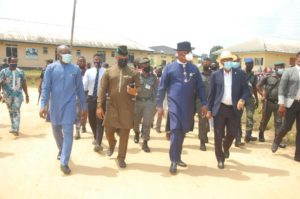 Akwa Ibom State government Visitation team being conducted round the college by the Provost, Dr. Daniel
