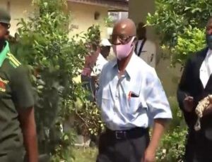 Prof. Peter Ogban being led by security men shortly after his sentence