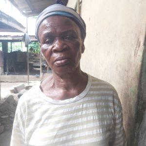 Victim's mother, Mrs Gloria Willie