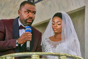 Photo: The newly wed, Mr Felix and Mrs Slyverline Ekuri